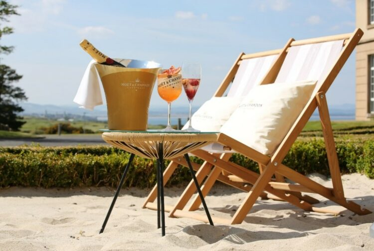 Moet & Chandon Champagne has unveiled two terraces at the Fairmont St Andrews hotel.