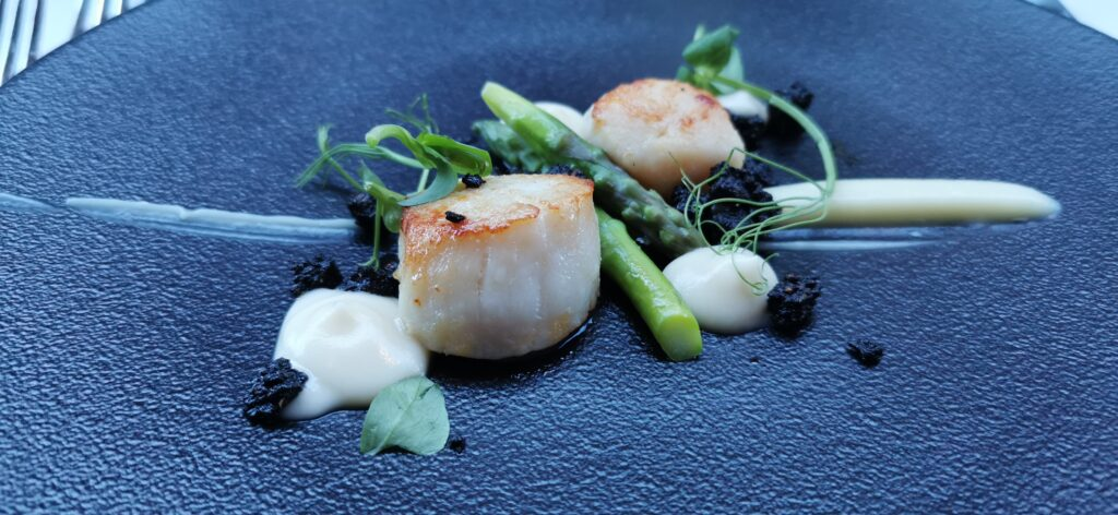 Scallops at Fairmont St Andrews hotel (Peter Rancombe)