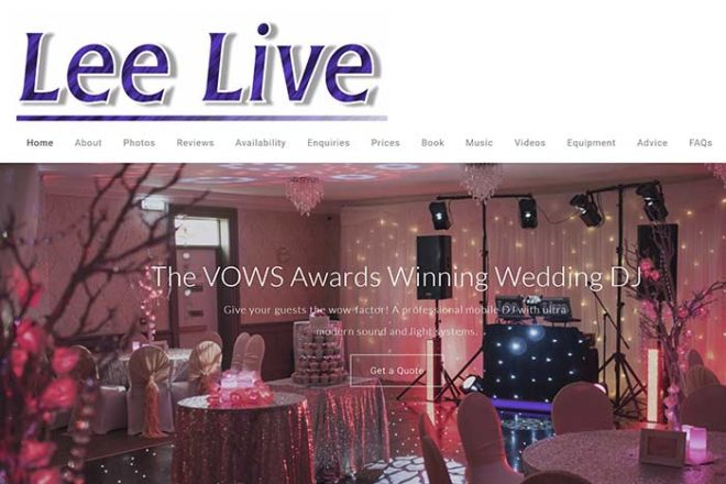 Featured Image for Lee Live: Wedding DJ