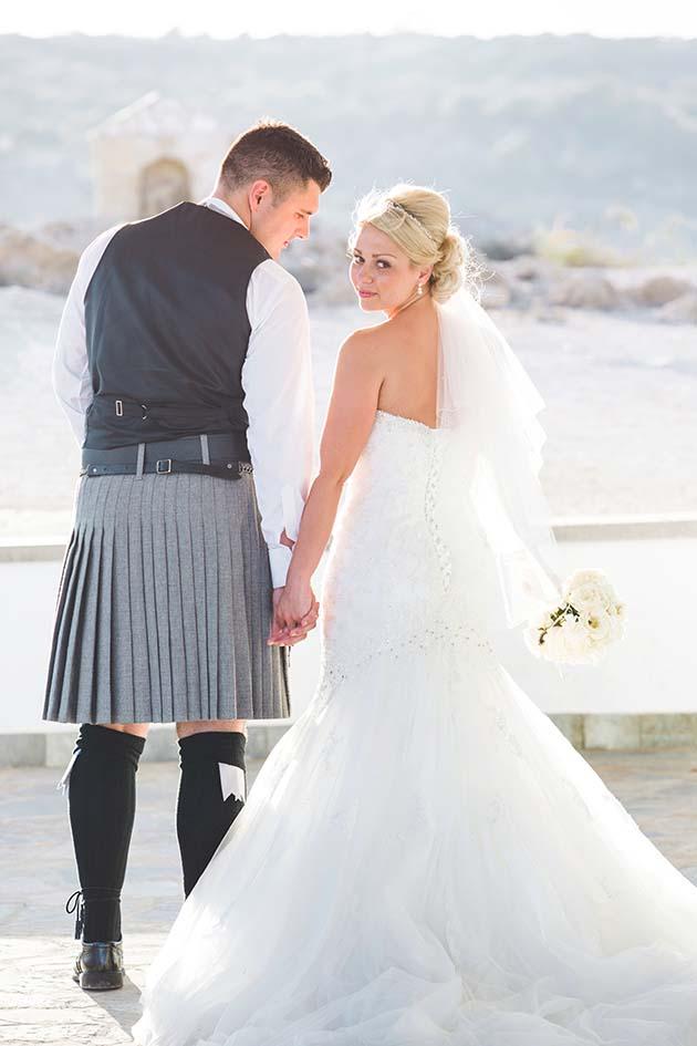 Scottish destination wedding cyprus