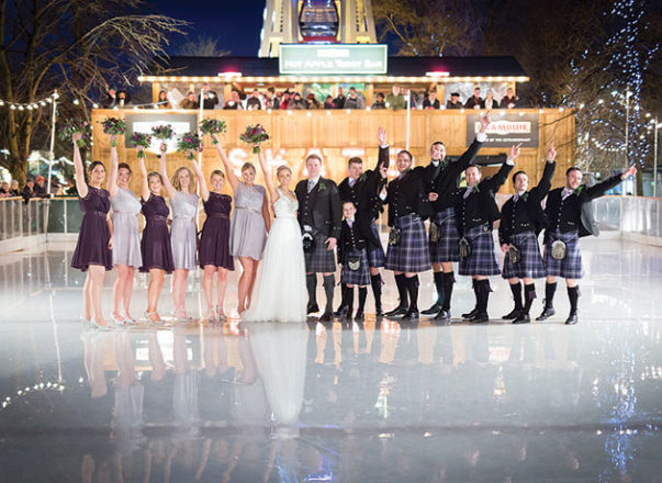 Featured Image for Tartan Hearts Enjoy Romantic Winter Wedding at Ghillie Dhu, Edinburgh