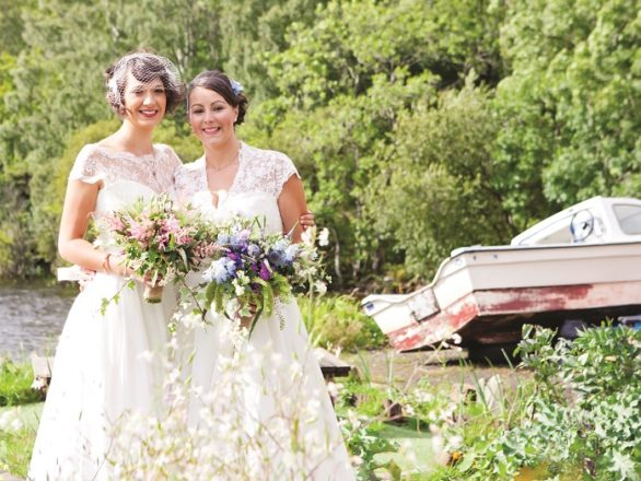Featured Image for Vintage-style DIY wedding at Venachar Lochside, Perthshire