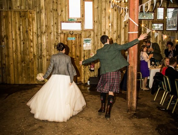 Featured Image for Blank Canvas DIY Winter Wedding at Comrie Croft, Perthshire