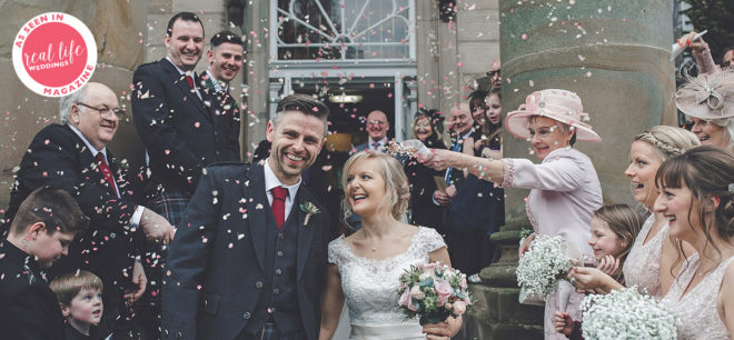 Featured Image for Rustic + Cosy Winter Wedding at Balbirnie House, Markinch