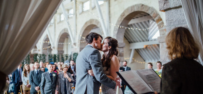 Featured Image for A Fun + Relaxed Blank Canvas Wedding in Coo Cathedral, Aberdeenshire