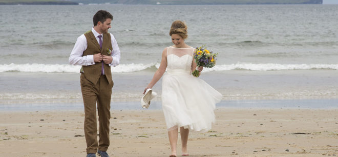 Featured Image for Lighthouse Wedding with Vintage Rustic Theme at Dunnet Head