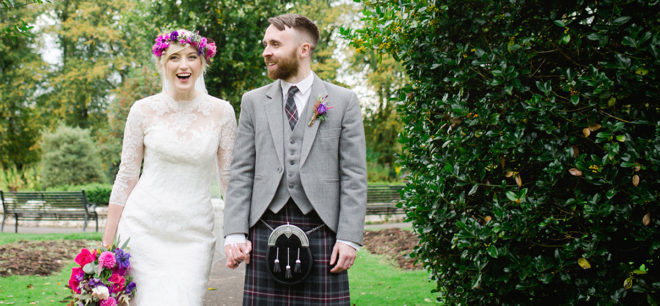 Featured Image for Creative Wedding with Cheerful Blooms at Pollokshields Burgh Hall, Glasgow