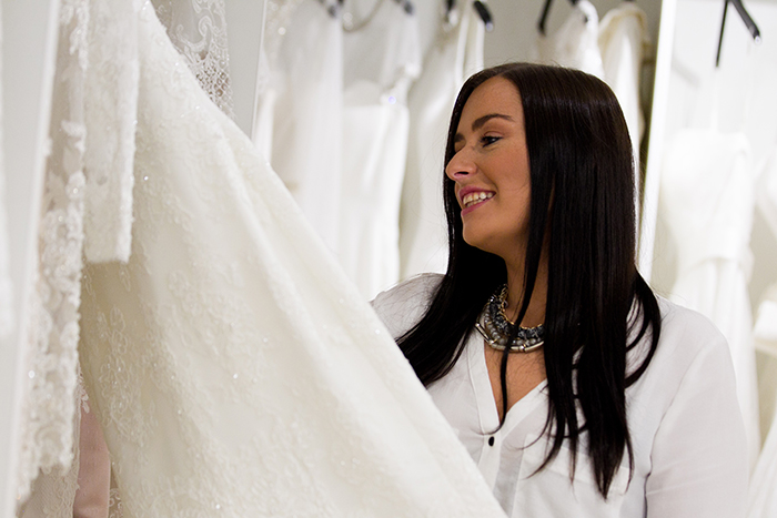 16/8/2016. Scottish Wedding Directory. Andrew Cawley. Pics of Carol (mother) and Holly Anderson, owners of June Brides, wedding dress shop in Glasgow. Eglington Street.