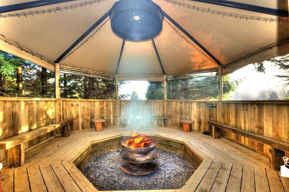 Fire Pit at Loch Tay Highland Lodges