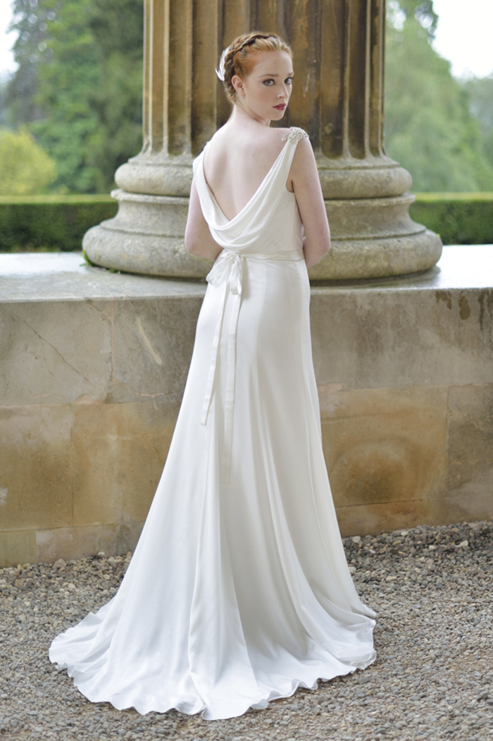 """Ivory & Co """"Empress silk satins and chiffons make these gowns stand apart from the rest"""", say Hollie and Carol."""