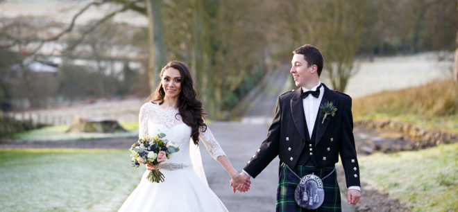 Featured Image for Traditional Christmas-themed wedding day at beautiful Balmule House, Dunfermline
