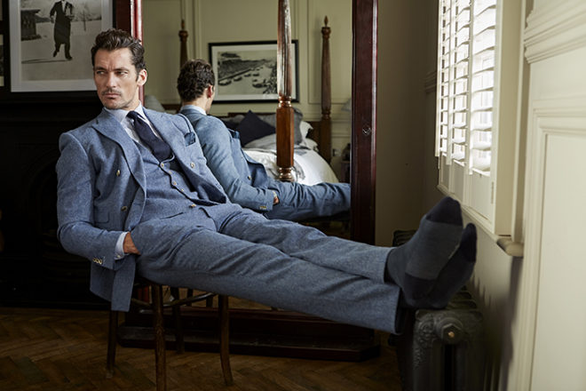 Featured Image for Supermodel David Gandy shares his tips on wedding socks appeal