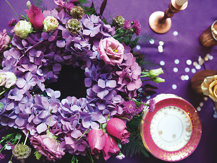 Featured Image for #THROWBACKTHURSDAY: Dark and stormy 'Purple Reign' decor shoot at West On The Green, Glasgow