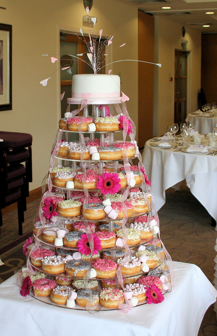 Doughnut cake: Rainbow Sugarcraft