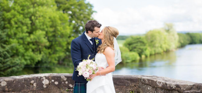 Featured Image for Summer garden party wedding day at family home, Millearne