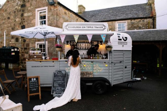Featured Image for Hire a mobile gin trailer from Edinburgh Gin for your wedding day!