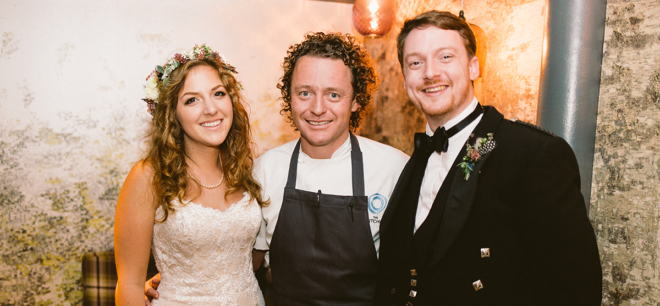 Featured Image for Intimate Edinburgh wedding with reception at The Kitchin, Leith