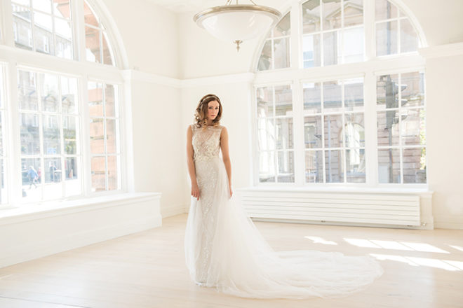 Featured Image for Embellished + beaded bridal gowns that will have you weak at the knees