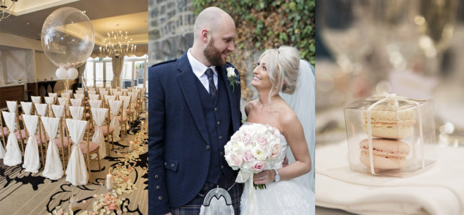 Featured Image for Champagne + blush themed wedding day at Hotel Colessio, Stirling