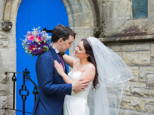 Featured Image for A colourful DIY wedding at blank canvas venue Killearn Village Hall, near Glasgow