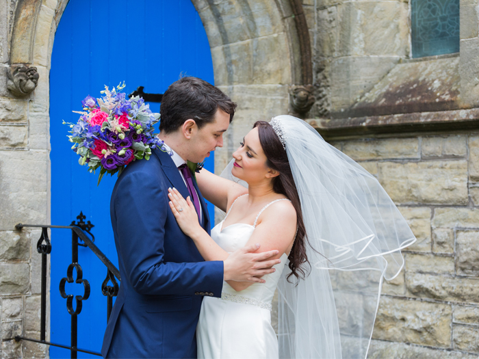Featured Image for A colourful DIY wedding at blank canvas venue Killearn Village Hall, near Glasgow