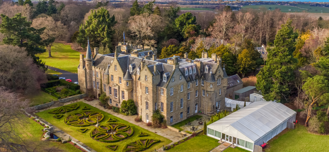 Featured Image for Discover stunning Carberry Tower Mansion House + Estate, East Lothian for your big day