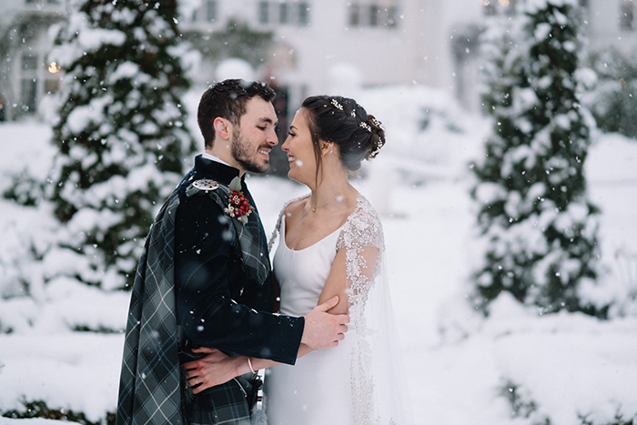 Achnagairn Castle Affordable Winter Wedding Wonderland Package Andy Taylor Photography