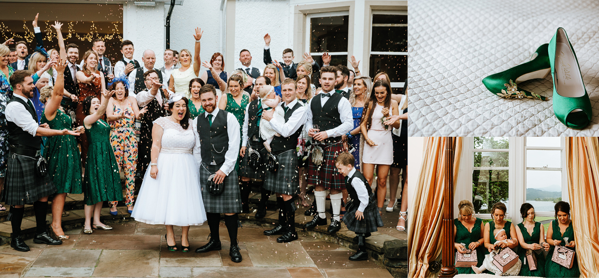 Featured Image for Beautiful emerald green wedding theme at Altskeith Country House, Loch Ard