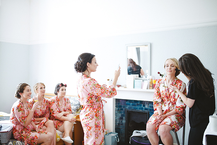 Stylish bride and bridesmaid dressing gowns - The Gibsons