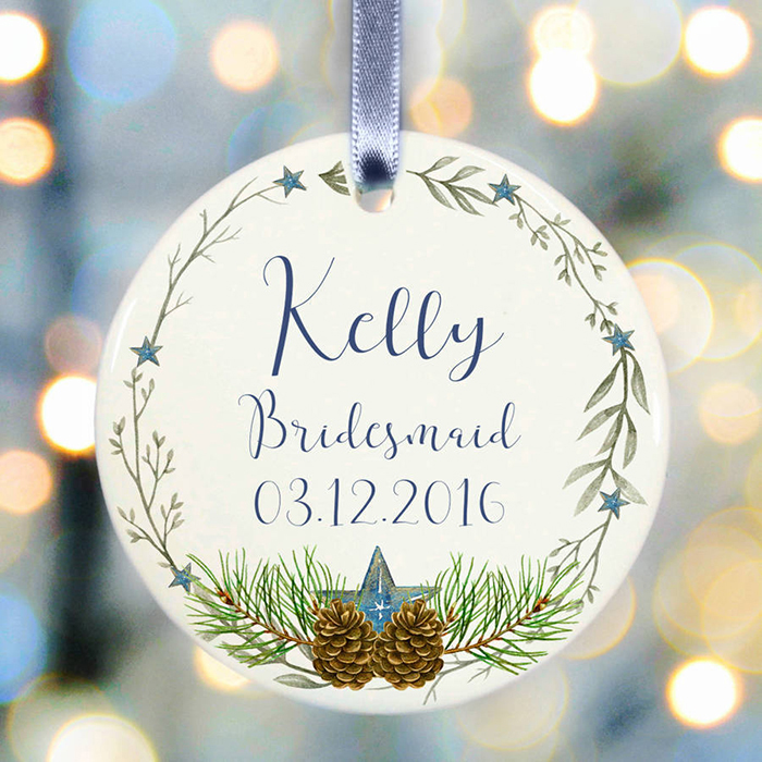 WEDDING PARTY GIFT BRIDESMAID BAUBLE