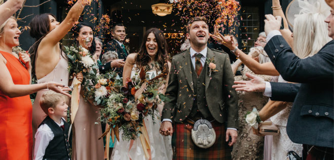 Featured Image for Stylish autumnal wedding day at Craigellachie Hotel, Speyside