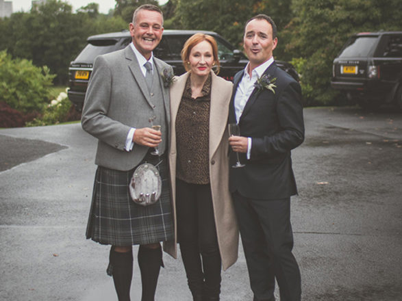 Featured Image for Couple get magical surprise as JK Rowling photobombs their wedding!