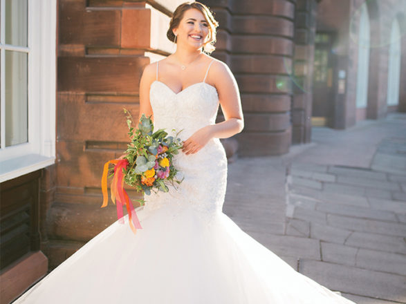 Featured Image for Seriously gorgeous bridal gowns for plus-sized brides from Scottish boutiques