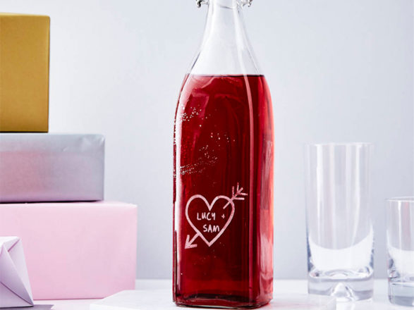 Featured Image for SWD Loves: Personalised heart carved bottle