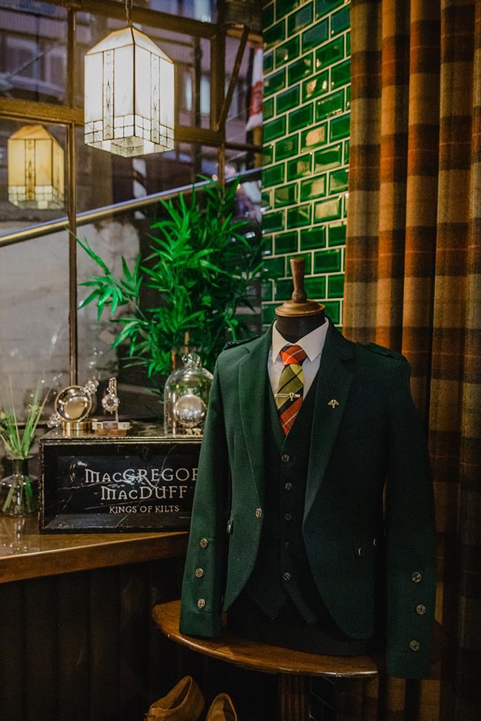 The Groom's Room Macgregor + MacDuff House Martin Barbers