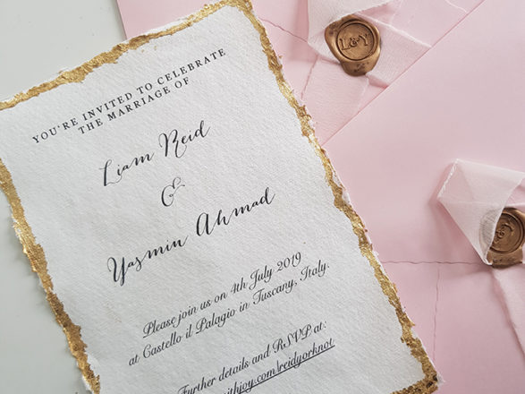 Featured Image for The Girl with the Big Hair: How I created my DIY imperial and romantic wedding invitations