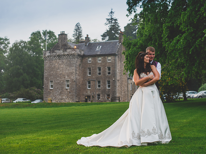 Featured Image for Weekend long wedding celebration at Culcreuch Castle, near Fintry