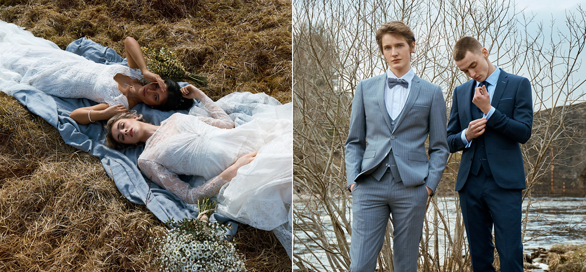 Featured Image for Scotland's bridal boutiques + groomswear specialists showcase their latest collections, surrounded by Scotland's beauty