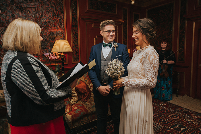autumnal themed wedding at Prestonfield House, Edinburgh