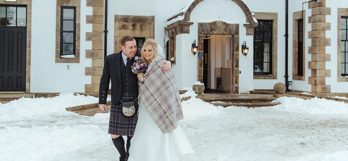 Featured Image for Snowy springtime wedding with gospel choir at Gleddoch Hotel, near Glasgow