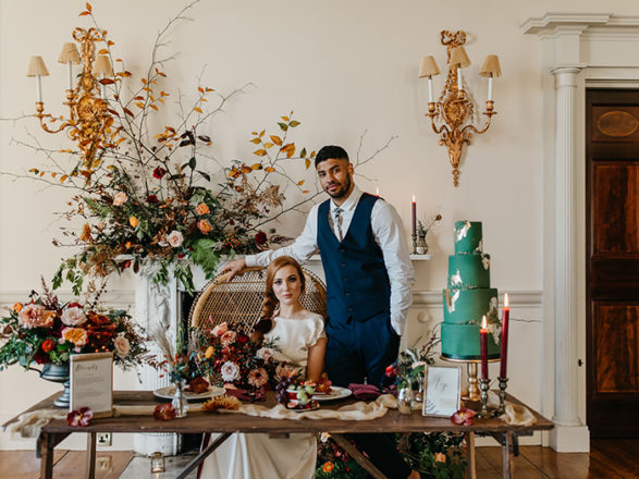 Featured Image for Aberdeenshire wedding suppliers collaborate in this wilderness bride inspired styled shoot