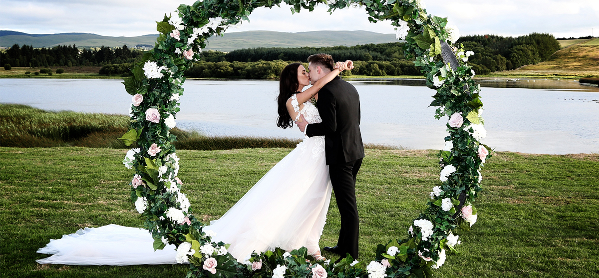 Featured Image for Elegant + glam Summer wedding at Lochside House Hotel and Spa, New Cumnock