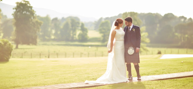 Featured Image for Childhood sweethearts' countryside wedding day at Cornhill Castle, Biggar