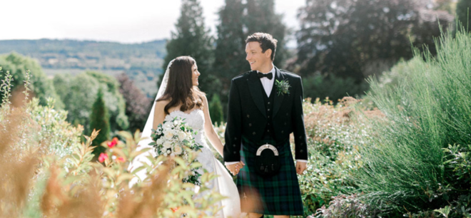 Featured Image for Bringing the Scottish outdoors inside at this stunning Achnagairn Castle wedding