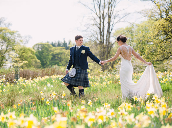 Featured Image for Blank canvas Iranian + Scottish wedding day at The Barn at Harburn, West Calder