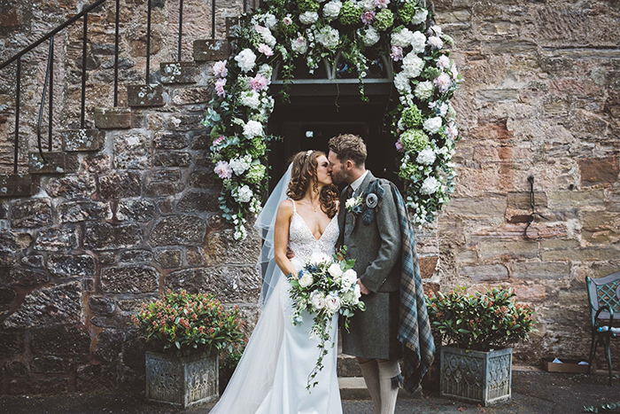 Featured Image for Floral-filled nature inspired wedding day at Sorn Castle, East Ayrshire
