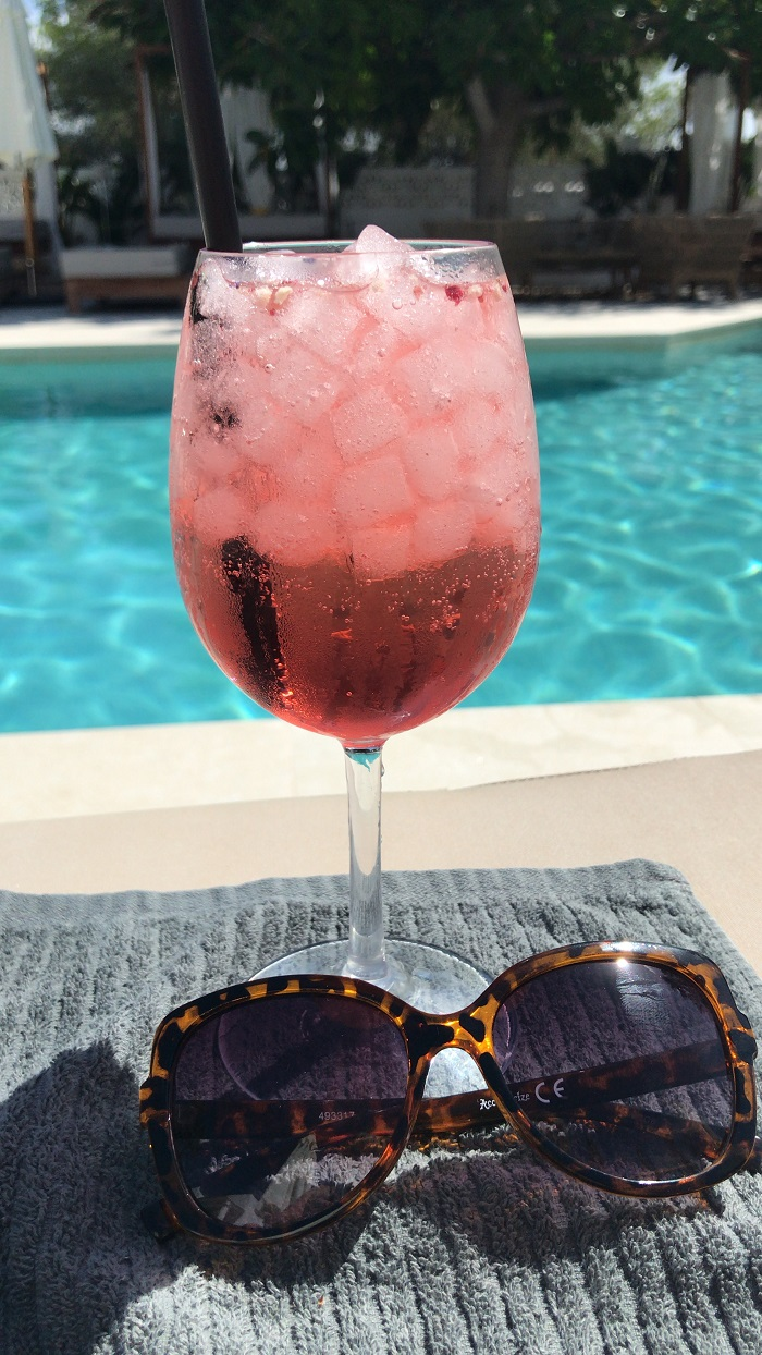 cocktails at Las Mimosas Ibiza