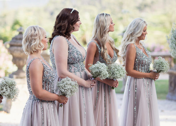 Featured Image for How do you find bridesmaids' dresses for your girls if they're different shapes and sizes?