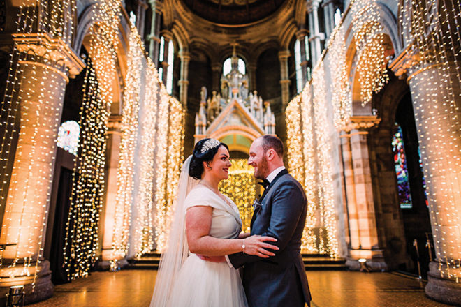 Featured Image for Romantic secret wedding day at Mansfield Traquair, Edinburgh