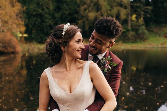 Featured Image for Glasgow bridal designer's own fairytale wedding day at Dalduff Farm, Maybole